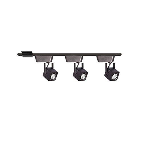WAC Lighting CI-HHT-802/3-BK Low Voltage Three Light Track Lighting Kit in Black Finish
