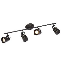 4 Lights Kitchen Track Lighting Oil Rubbed Bronze, Ceiling Spotlights Track Lighting Kit Wall Li ...
