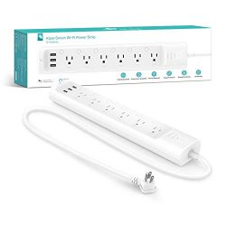 Kasa Smart Power Strip 6 WiFi Outlets by TP-Link – Surge Protection, Control from Anywhere ...