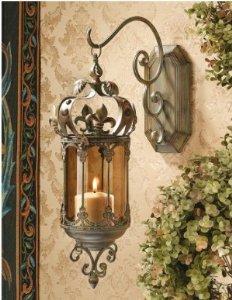 21″ Medieval Hallway Hanging Pendent Light,Wall Lantern Sconce Candle Holder