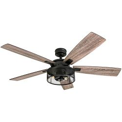 Honeywell Ceiling Fans 50614-01 Carnegie Ceiling Fan, 52″, Matte Black
