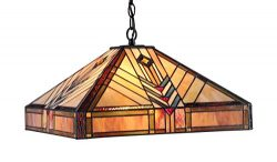 Chloe Lighting CH33422IM18-DH2 Edward Mission 2-Light Ceiling Pendant, 18-Inch, Multi-colored