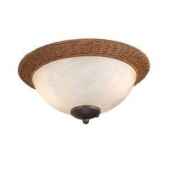 Harbor Breeze 2-Light Aged bronze Incandescent Ceiling Fan Light Kit with Alabaster Glass/Shade