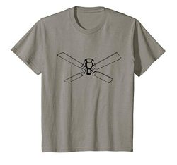 Kids Retro Ceiling Fan Print T-Shirt 8 Slate