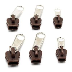 6 Pieces Fix Zip Puller/Zipper Pull Sliders Head Repair Instant Kit Removable Rescue Replacement ...