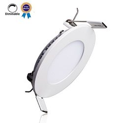 B-right 18W 8-inch Dimmable Round LED Panel Light 1400lm Ultra-thin 4000K Daylight White LED Rec ...