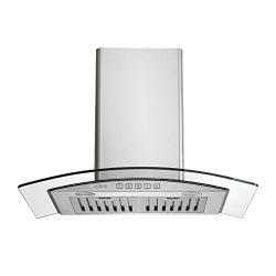 Zuhne Chorus 30 inch Kitchen Wall Mount Ducted/Ductless Stainless Steel Range Hood or Stove Vent ...