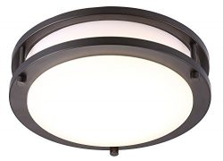 Cloudy Bay LED Flush Mount Ceiling Light,10 inch,17W(120W Equivalent) Dimmable 1150lm,5000K Day  ...
