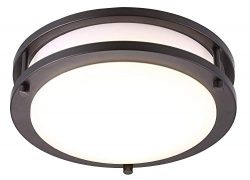 Cloudy Bay Radar Motion Sensor Ceiling Light Fixture,Time,Distance, Ambience Adjustable,10 inch, ...