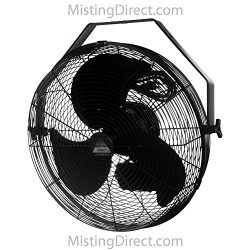 Wet Location Fan 18 Inch Blade, Indoor/Outdoor Wall/Ceiling/Pole Mount, Black