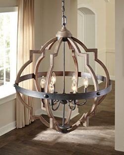 Saint Mossi Oil Rubbed Bronze Farmhouse Chandelier Lighting Flush mount LED Ceiling Light Fixtur ...