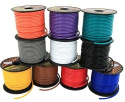 16 GA Primary Wire 10 Roll Color Combo | 100 ft per Color (1000' total) CCA Cable for Automotive ...