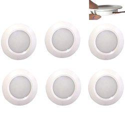 12v-LEDlight Marine White Recessed LED Ceiling Lights – Easy to Install (screw free) Cabin ...