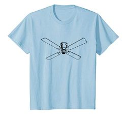 Kids Retro Ceiling Fan Print T-Shirt 8 Baby Blue