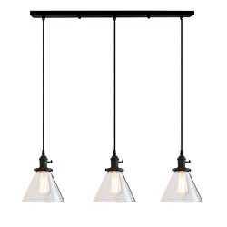 Permo Vintage Rustic Industrial 3-Lights Kitchen Island Chandelier Triple 3 Heads Pendant Hangin ...