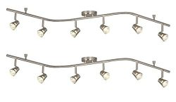 Galaxy Lighting 755596BN 6 Light Halogen Flexible Track Lighting (2 Pack)