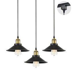 STGLIGHTING 3-Pack H-Type Track Light Pendants Restaurant Chandelier Decorative Instant Pendant  ...