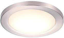 Cloudy Bay Ceiling Light Fixture,12″ LED Flush Mount,17W 5000K Day Light Dimmable,1100lm - ...