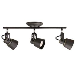 BONLICHT Spotlight Track Lighting -3 Lights Industrial Vintage Semi-Flush Ceiling Light- Oil Rub ...