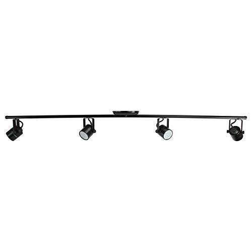 Direct-Lighting LED 4FT 4-Light Track Lighting Kit GU10 LED Bulbs Included D368-44-LED-BK (Black)