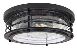 Sylvania 60126 Andover Antique Drum Light, LED, Flush Mount, Dimmable Bulb Included Vintage Fixt ...