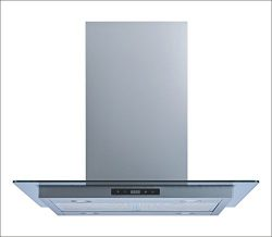 Winflo 30″ Island Stainless Steel/Tempered Glass Convertible Range Hood with Touch Control ...