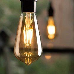 6-Pack Vintage LED Edison Light Bulbs, Dimmable 6-watt ST64 A19 LED Replacement Bulbs 60 watt eq ...