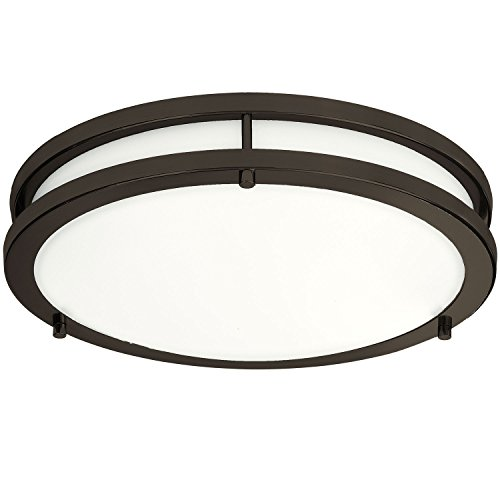 LB72166 LED Flush Mount Ceiling Light, Oil Rubbed Bronze, 16-Inch, 23W, (120W Equivalent), 5000K ...