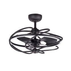 Modern Ceiling Fan with LED Lights 27 Inch Contemporary Art Chandelier Ceiling Fans Light Kit wi ...