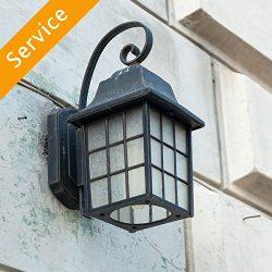 Exterior Light Fixture  Replacement – 10-14 ft. – Up to 2 Light Fixtures