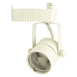 D&D Brand H System MR16 Low Voltage Track Lighting Fixture White HTC-R10-WH (Head Only ̵ ...