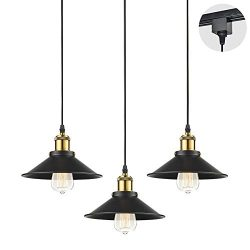 STGLIGHTING 3-Pack H-Type Track Light Pendants Restaurant Chandelier Decorative Instant Pendant  ...