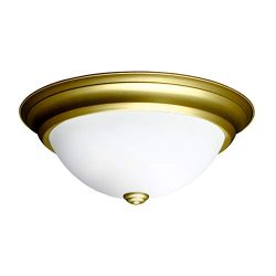 OSTWIN 13 Inch LED Dimmable Flush Mount Ceiling Light Fixture Round Dome Opal Glass Shade 18 Wat ...