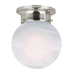 Design House 511592 Millbridge 1 Light Ceiling Light, Satin Nickel