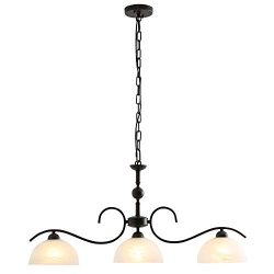 Horisun 3 Lights Handing Pendant Lighting with Glass Shade Elegant Indoor Island Pendant Lamp Re ...