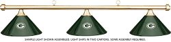 Imperial NFL Green Bay Packers Green Metal Shade & Brass Bar Billiard Pool Table Light