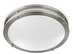 "Sleeklighting Modern Flush Mount LED Ceiling Light (12"" inch) 15Watt – 1050 Lumens, 5000K  ..."