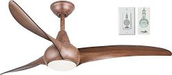 Minka-Aire F844-DK Light Wave 52″ Ceiling Fan, Distressed Koa with Remote and Wall Control ...