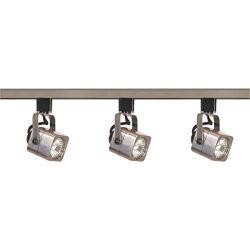 Ciata lighting 3 Light Square Track Lighting 48 Inches Long MR16 Bulb, GU10 Base 50 Watts (Brush ...