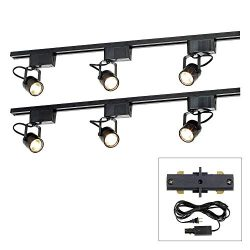 Pro Track174; Black 300W 6-Light Lv Plug-in Linear Track Kit