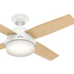 Hunter Fan 44 inch Contemporary Ceiling Fan with LED light kit and Remote Control included (Cert ...