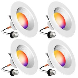 Smart Recessed Lighting – iLintek 5/6 inch Bluetooth Led Downlight (Version 2.0) Color Cha ...