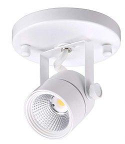 Cloudy Bay LED Flush Mount Track Light Head,CRI90+ 5000K Day Light Dimmable,Adjustable Tilt Angl ...