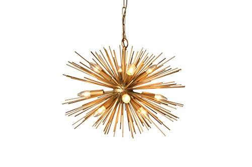 Y-Decor LZ3349-12 Light Chandelier in Gold Finish