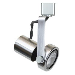 Direct-Lighting 50004 Brushed Steel PAR20 Line Voltage Gimbal Ring Track Lighting Head