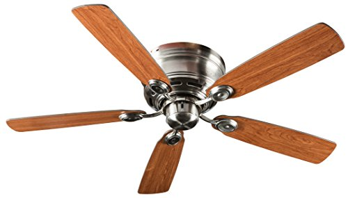 Hyperikon Remote Control Ceiling Fan, 42-Inch Brushed Nickel Ceiling Fan Fixture with Five Rever ...