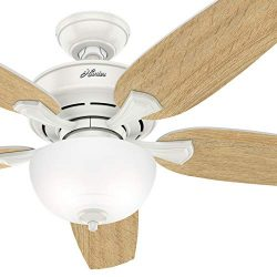 Hunter Fan 54 inch Casual Noble Bronze Indoor Ceiling Fan with Light Kit (Certified Refurbished) ...
