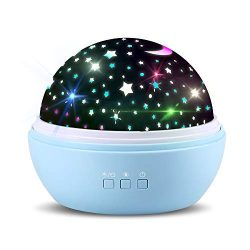 Newest Star/Ocean Rotating Ceiling Projector Night Light for Kids Baby Bedrooms (Blue) – B ...