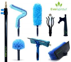 EVERSPROUT Extension Pole Total Kit (25+ Ft. Reach) | Telescopic Pole, Scrub Brush, Light Bulb C ...