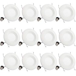 """12 Pack 5""""/6″ Dimmable Led Recessed Downlight 5000K Daylight BBounder 1000LM 13W (120W Rep ..."""